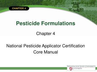 Pesticide Formulations