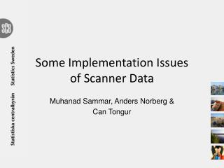 Some Implementation Issues of Scanner Data