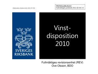 Vinst- disposition 2010