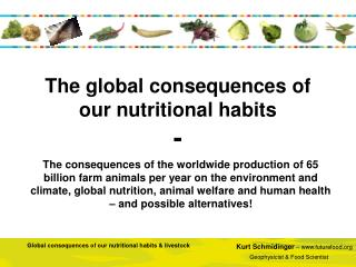 The global consequences of our nutritional habits -