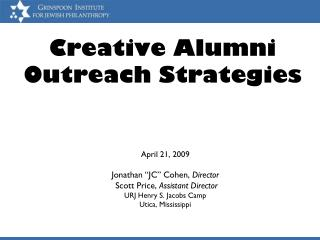 Creative Alumni Outreach Strategies