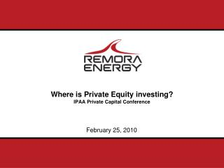 Where is Private Equity investing IPAA Private Capital Conference