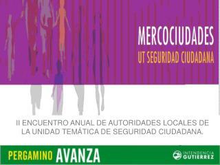 II ENCUENTRO ANUAL DE AUTORIDADES LOCALES DE LA UNIDAD TEM�TICA DE SEGURIDAD CIUDADANA.