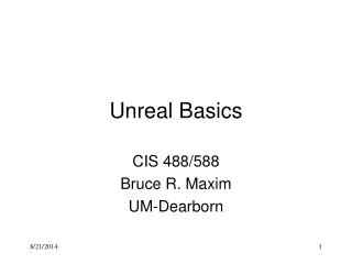 Unreal Basics