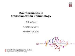 Bioinformatics in  transplantation immunology