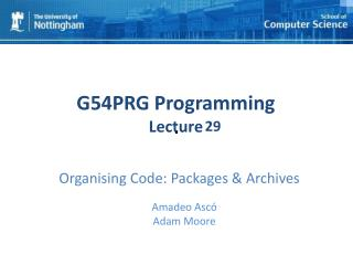 Organising Code: Packages & Archives