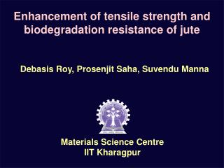 Enhancement of tensile strength and biodegradation resistance of jute