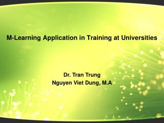 M-Learning Application in Training at Universities