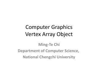 Computer Graphics Vertex Array Object