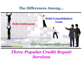 What Are The Differences Among Three Popular Credit Repair S
