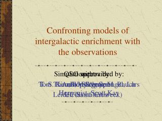 Confronting models of intergalactic enrichment with the observations