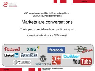 VBB Verkehrsverbund Berlin-Brandenburg GmbH Eike Arnold, Political Marketing