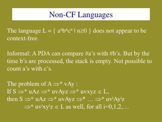 Non-CF Languages