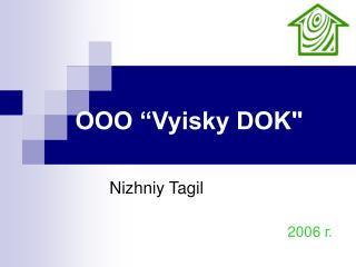 """ООО  """"Vyisky DOK"""""""