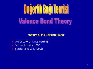 """ Nature of the Covalent Bond """