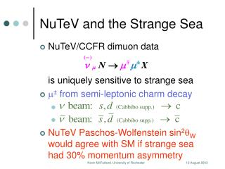 NuTeV and the Strange Sea