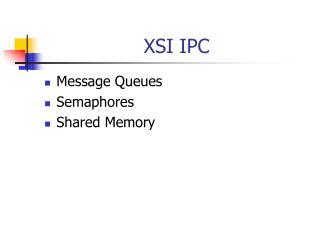 XSI IPC