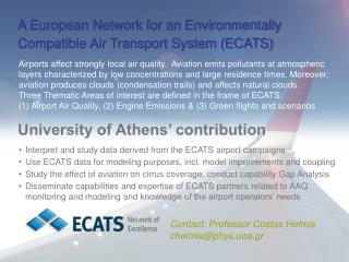 A European Network for an Environmentally Compatible Air Transport System (ECATS)