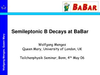 Semileptonic B Decays at BaBar