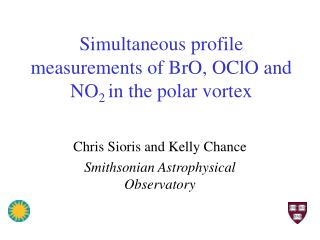 Simultaneous profile measurements of BrO, OClO and NO 2  in the polar vortex