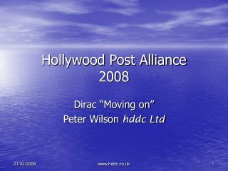Hollywood Post Alliance 2008