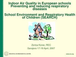 Zorica Korac, REC Sarajevo 17-19 April, 2007