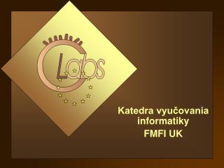 Katedra vyučovania informatiky FMFI UK