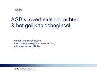 AGB's, overheidsopdrachten & het gelijkheidsbeginsel