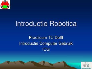 Introductie Robotica