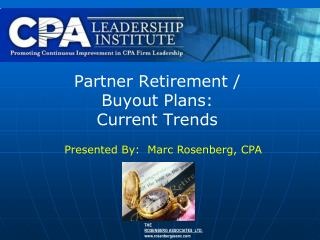 Partner Retirement /  Buyout Plans: Current Trends