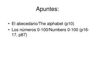 Apuntes: