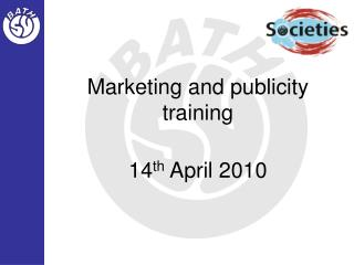 Marketing and publicity training