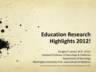 Education Research Highlights 2012!