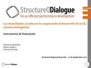 Las Autoridades Locales en la cooperación al desarrollo de la CE, actores emergentes