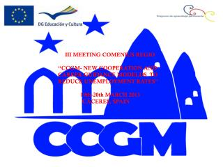 III MEETING COMENIUS REGIO