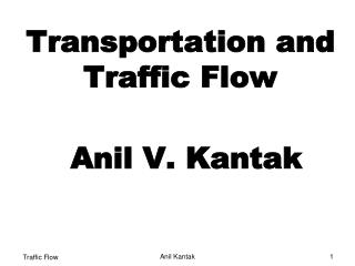 Transportation and Traffic Flow