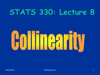 STATS 330: Lecture 8