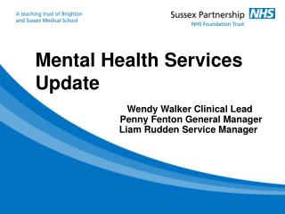 Mental Health Services Update