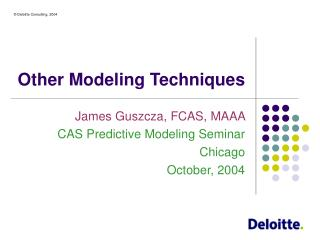 Other Modeling Techniques
