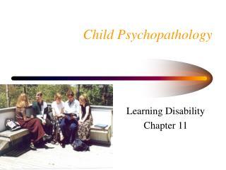 Child Psychopathology