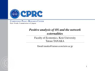 Positive analysis of OS and the network externalities