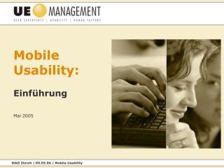 Mobile Usability: Einführung Mai 2005