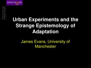 Urban Experiments and the Strange Epistemology of Adaptation