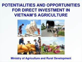 POTENTIALITIES AND OPPORTUNITIES FOR DIRECT INVESTMENT IN VIETNAM'S AGRICULTURE