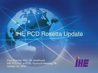 IHE PCD Rosetta Update