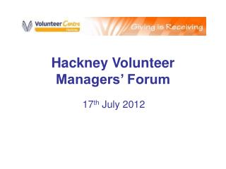 Hackney Volunteer Managers' Forum