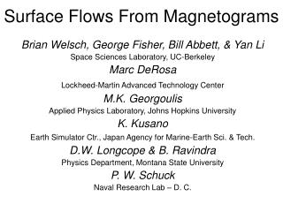 Surface Flows From Magnetograms