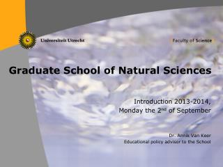 Graduate School of Natural Sciences