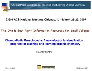 ChemgaPedia Enzyclopedia: Teaching and Learning Organic Chemistry