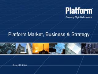 Platform Market, Business & Strategy